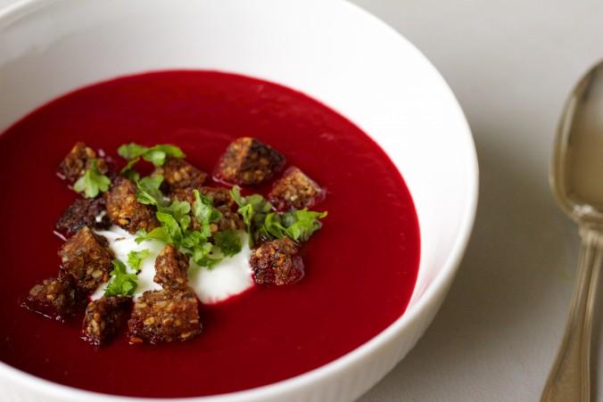 Billede af rødbedesuppe