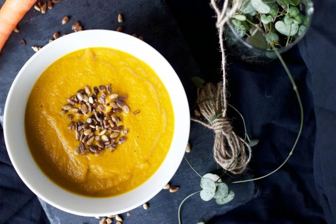 Billede af gulerodssuppe