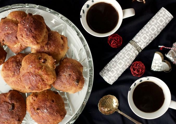 Billede af Juleboller med nødder og tørrede tranebær