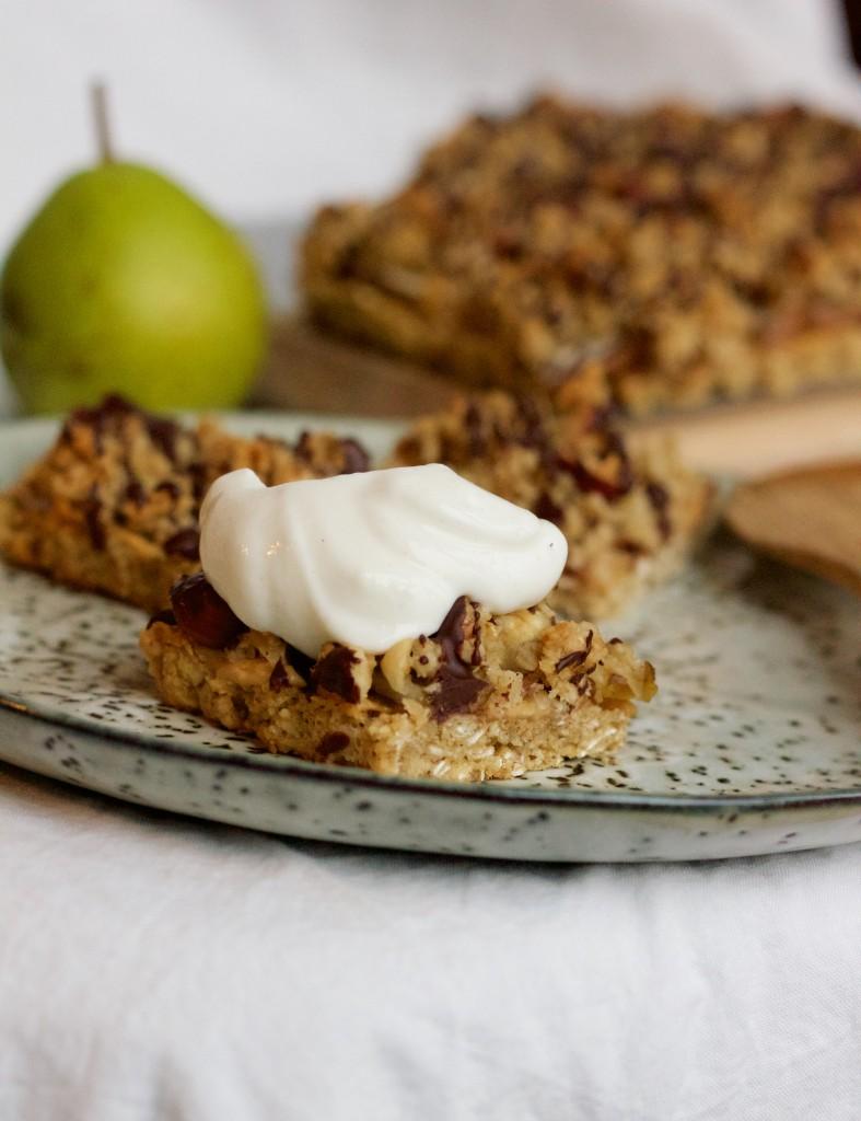 Billede af Snackbar med pære og peanutbutter