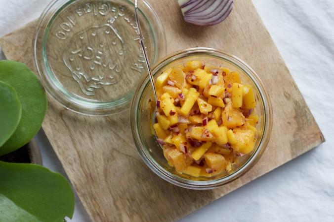 Billede af Mango- og appelsinsalsa
