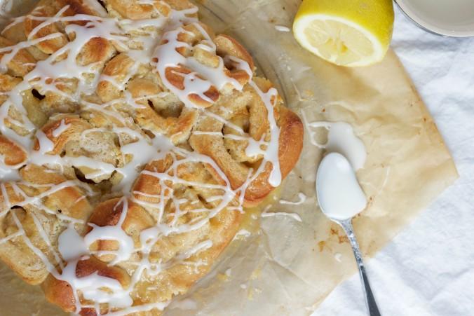 Billede af Snegle med marcipan og lemon curd