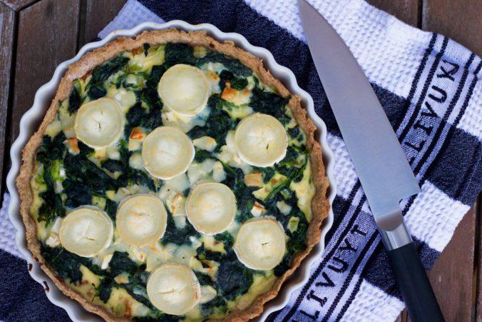 Billede af Tærte med spinat, porre og gedeost