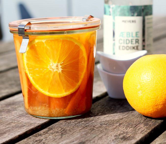 Billede af Råsyltede gulerødder med appelsin og ingefær