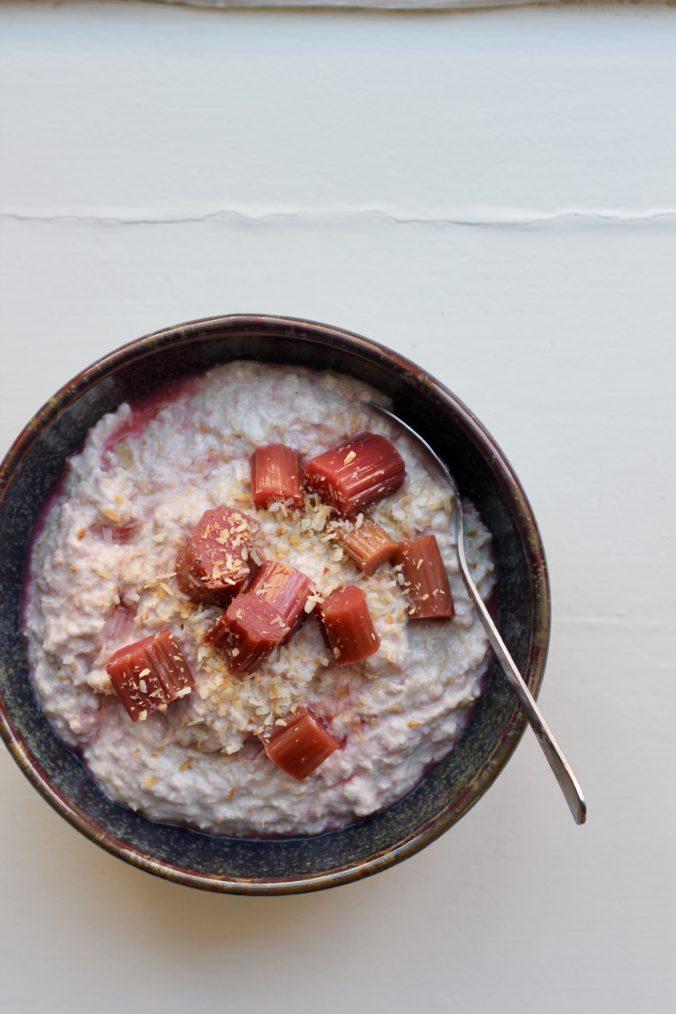 Billede af Overnight oat med rabarber