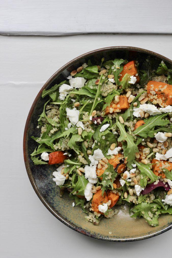Billede af Quinoa salat med bagt græskar
