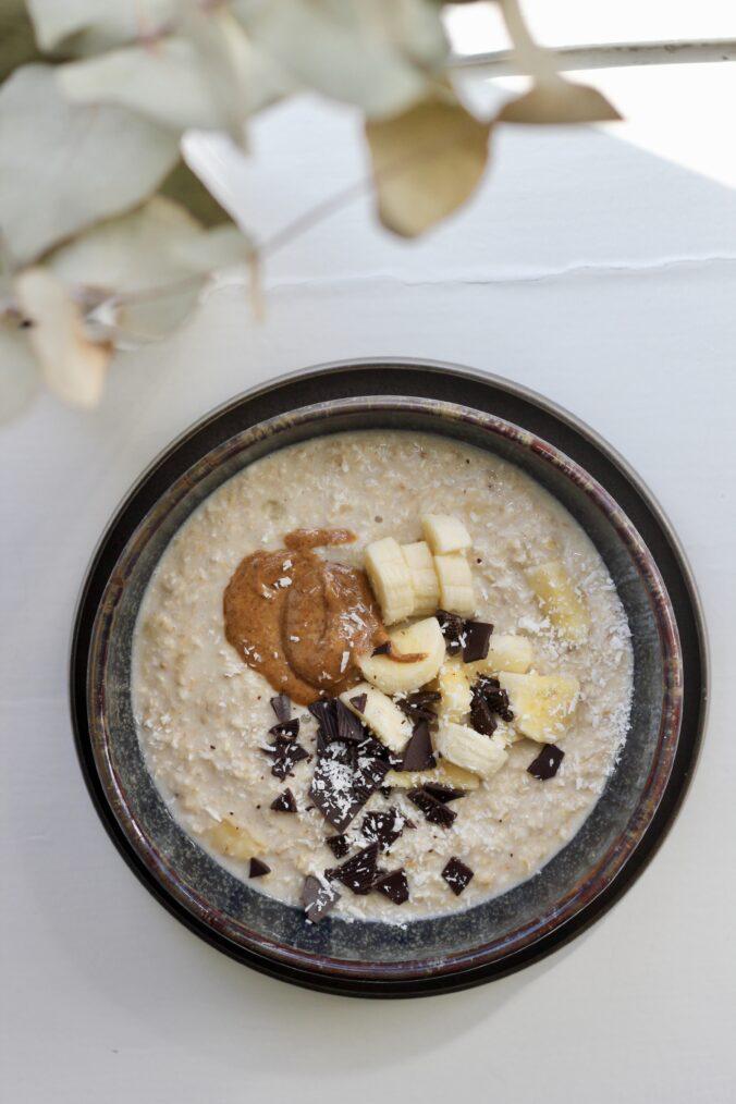 Billede af Overnight oat med banan og kokos